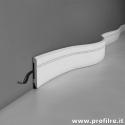 battiscopa curvabile per pareti curve e tonde sagomato verniciabile verona flessibile