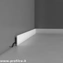 Battiscopa in polimero flessibile bordo quadro moderno da verniciare Udine alto 65 mm