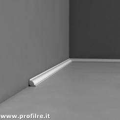 battiscopa bianco zoccolino in polimero poliuretano sagomato Perugia