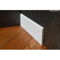 Battiscopa massello in legno laccato bianco mm95