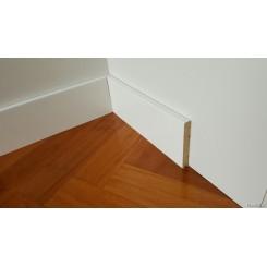 battiscopa bianco in legno massello molto sottile spessore mm 7 slim