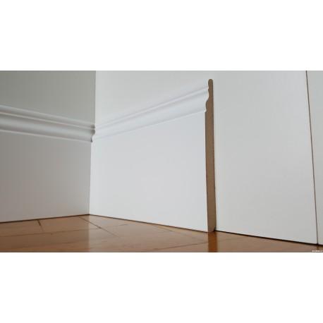 Zoccolino alto bianco stile inglese mm140x13 mdf laccato