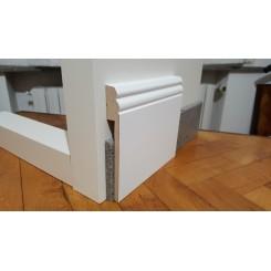 coprizoccolo coprimarmo in mdf laminato bianco 14 centimetri spessore mm19