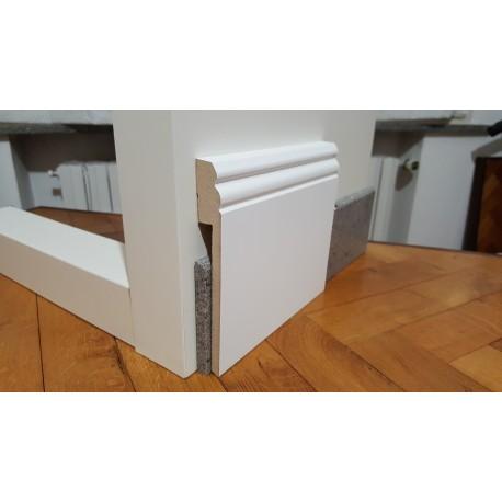 coprizoccolo coprimarmo in mdf stile inglese laminato bianco 14 centimetri