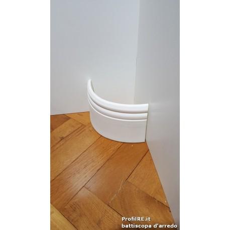 battiscopa zoccolino curvabile per pareti tonde tipo inglese ducale mm90X12