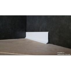 battiscopa basso alluminio bianco mm40 x mm11