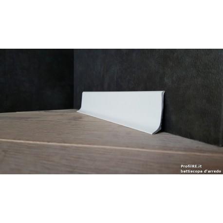 battiscopa basso alluminio bianco 9010 mm40 x mm11