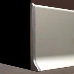 Terminale sinistro battiscopa alluminio mm70
