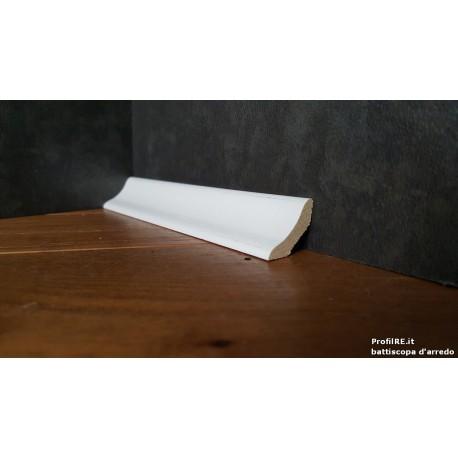 cornicetta bassa in legno massello laccata bianca standard mm22x22