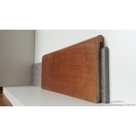 coprizoccolo coprimarmo in vero legno tinto noce medio mm100x19