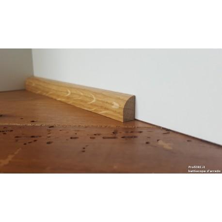 Profilo cornicetta bassa in legno Rovere 10 mm di spessore