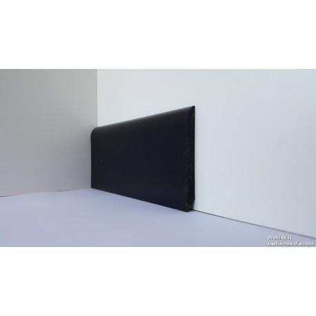 Battiscopa zoccolino impermeabile flessibile ignifugo mm 75 x mm9 pvc nero