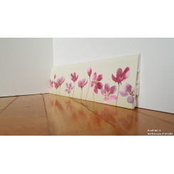 battiscopa in pvc idrorepellente decoro fiori rosa