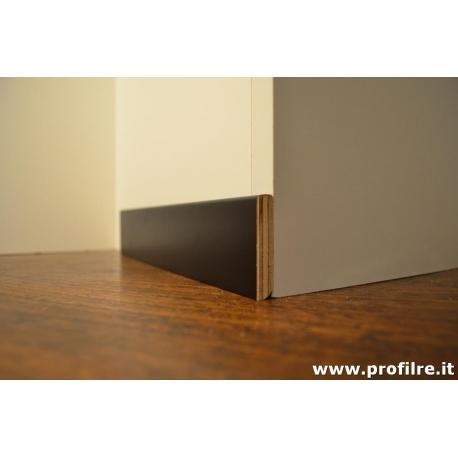 battiscopa zoccolino laccato nero basso 5 cm moderno in legno