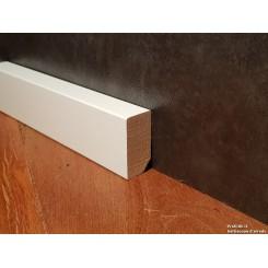 Battiscopa basso bianco moderno mm40x20 in legno massello