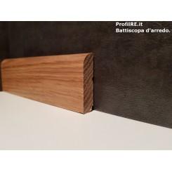 battiscopa zoccolino basso a basolino in legno massello rovere mm35x13