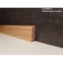 battiscopa cornicetta in Rovere massello basso mm40x15