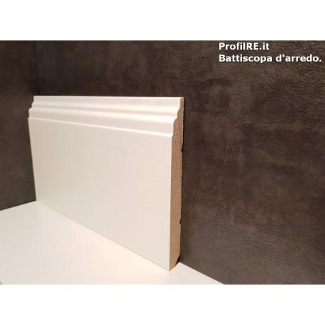 battiscopa in legno massello alto Padova bianco mm120x13