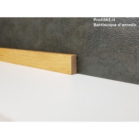 battiscopa in legno basso massello bordo quadro rovere mm20x10