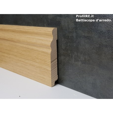 battiscopa in legno alto sagomato ducale inglese soft Rovere mm 100 spessore mm 15