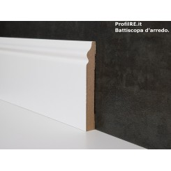 battiscopa in mdf alto bianco ducale inglese mm80x10 economico 3