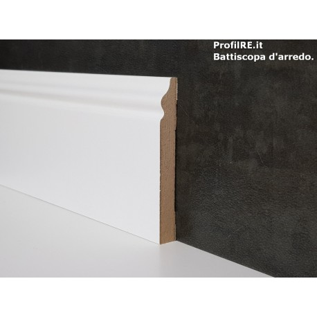 battiscopa in mdf alto bianco ducale inglese mm80x10 economico