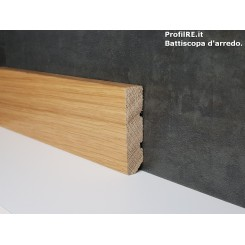 battiscopa rovere massello zoccolino moderno cm6 x 1,5