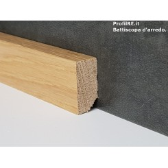 battiscopa in Rovere basso bordo quadro cm3