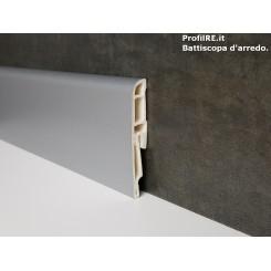 battiscopa pvc alluminio idrorepellente anti umidità alto 7 cm spessore mm 16