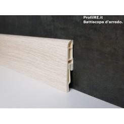 battiscopa in pvc idrorepellente Rovere sbiancato antiumidità mm70x16