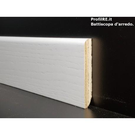 battiscopa zoccolino Frassinato laccato bianco mm80 x mm13