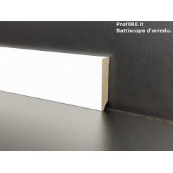 battiscopa basso laminato bianco quadro cm5
