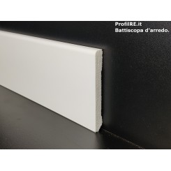 Battiscopa zoccolino impermeabile 8 centimetri bordo quadro