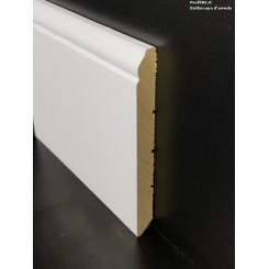 battiscopa in legno massello alto Livorno bianco mm130x13
