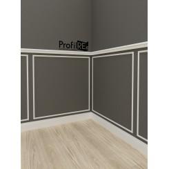 Boiserie da parete in legno e poliuretano polimero - ProfilRE ...