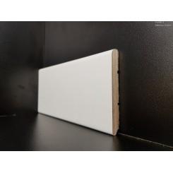 battiscopa laminato bianco economico bordo semi tondo mm 75 spessore mm 12