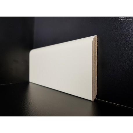 Battiscopa laccato bianco ral 1013 mm70x10 in bordo tondo (2)