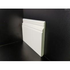 Battiscopa impermeabile idrofugo sagomato inglese ducale laccato bianco ral 9016 mm120x12 (1)