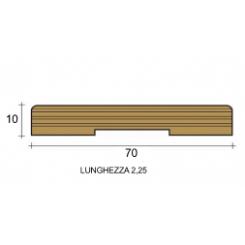 coprifilo mostrina bianco legno multistrato laccato bianco mm70x10 piatto raggio 2