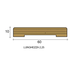 coprifilo mostrina bianco legno multistrato laccato bianco 6 centimetri
