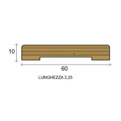 coprifilo mostrina bianco legno multistrato laccato bianco mm60x10 piatto raggio 2