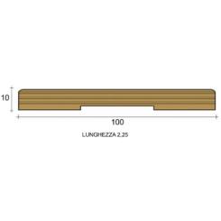 coprifilo mostrina bianco legno multistrato laccato bianco mm100x10 piatto raggio