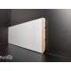 Battiscopa in legno multistrato laminato effetto alluminio 9006 mm75 (1)
