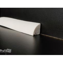 battiscopa zoccolino curvabile per pareti tonde bordo tondo mm 15x15 cornicetta