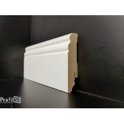 battiscopa LACCATO in mdf Roma small sagomato alto 8 centimetri laccato bianco 2