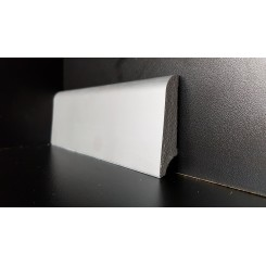 Battiscopa zoccolino impermeabile cm 6 x 1,5 bordo tondo effetto alluminio inox (2)