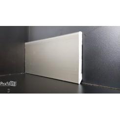 Battiscopa zoccolino impermeabile cm 8 x 1 bordo quadro effetto alluminio inox titanio (1)