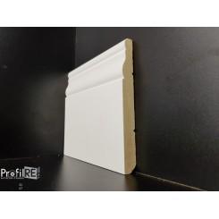 Battiscopa sagomato poro chiuso in legno massello laccato bianco ducale long mm100