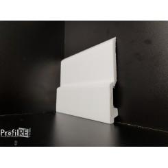 battiscopa bianco in polimero estruso da tinteggiare mm130 x mm16 modello Savona