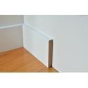 battiscopa zoccolino mdf bianco bordo quadro alto 8 centimetri spessore mm 13